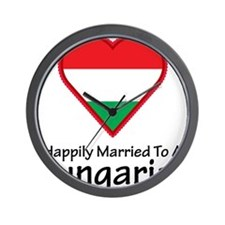 Happily Married Hungarian Wall Clock