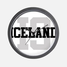 IS Iceland Wall Clock