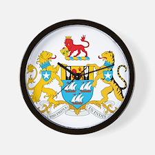 Mumbai Coat Of Arms Wall Clock