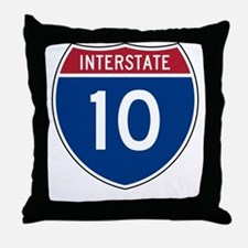 I-10 Highway Throw Pillow