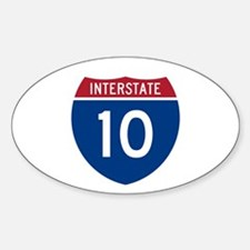 I-10 Highway Oval Decal