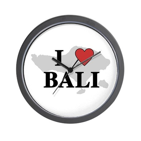 I Love Bali Wall Clock