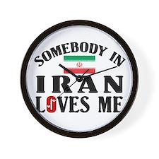 Somebody In Iran Wall Clock