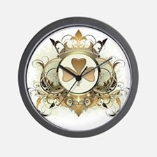 Stylish Shamrock Wall Clock