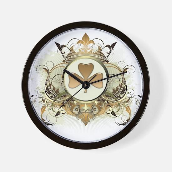 Stylish Shamrock Wall Clock