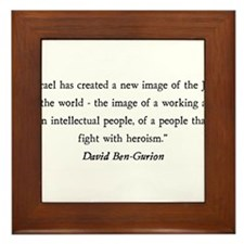 David Ben-Gurion Framed Tile