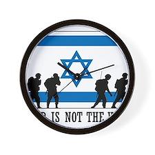 Anti War Israel Wall Clock