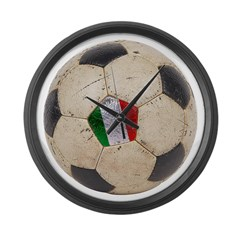 Italy Football Large Wall Clock
