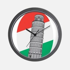 Cute Leaning tower of pisa Wall Clock