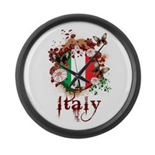 Butterfly Italy Large Wall Clock