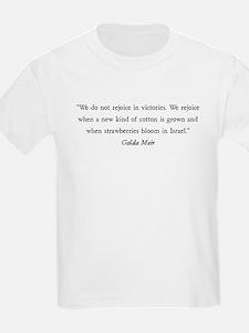 Golda Meir Kids T-Shirt