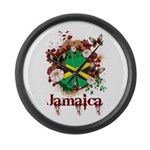 Butterfly Jamaica Large Wall Clock