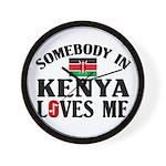 Somebody In Kenya Wall Clock