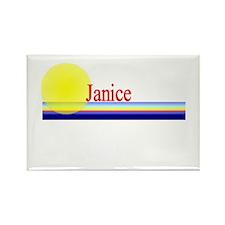 Janice Rectangle Magnet