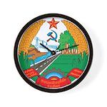 Laos Coat Of Arms Wall Clock