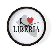 I Love Liberia Wall Clock