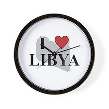 I Love Libya Wall Clock