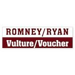 Romney Ryan Vulture Voucher Sticker (Bumper)