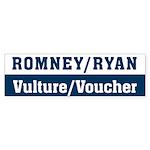 Romney Ryan Vulture Voucher Sticker (Bumper 50 pk)