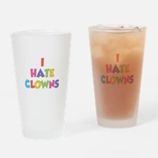 I Hate Clowns Drinking Glass