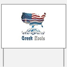American Greek Roots Yard Sign