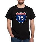 I-15 Highway Black T-Shirt