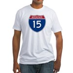 I-15 Highway Fitted T-Shirt