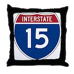 I-15 Highway Throw Pillow