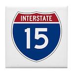 I-15 Highway Tile Coaster