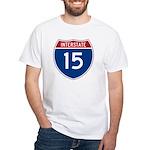 I-15 Highway White T-Shirt