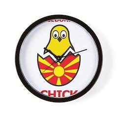 Macedonian Chick Wall Clock