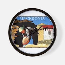 Vintage Macedonia Art Wall Clock
