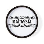 Tribal Malaysia Wall Clock