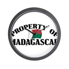 Property Of Madagascar Wall Clock