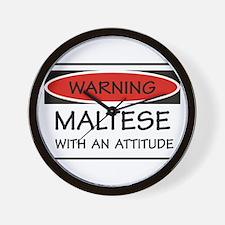 Attitude Maltese Wall Clock
