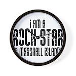 Rock Star In Marshall Islands Wall Clock