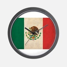 Vintage Mexico Flag Wall Clock