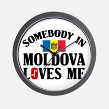 Somebody In Moldova Wall Clock