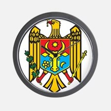 Moldova Coat Of Arms Wall Clock