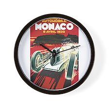 Monaco Grand Prix 1930 Wall Clock