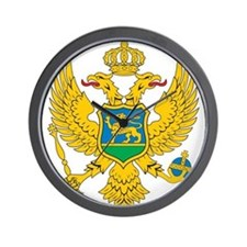 Montenegro Coat Of Arms Wall Clock