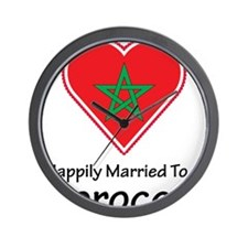 Happily Married Moroccan Wall Clock