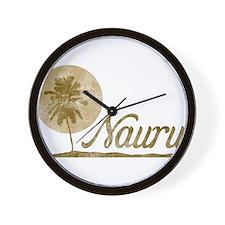 Palm Tree Nauru Wall Clock