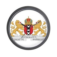 Amsterdam Coat Of Arms Wall Clock