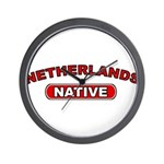 Netherlands Native Wall Clock