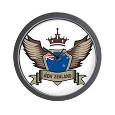 New Zealand Emblem Wall Clock