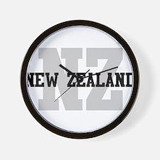 NZ New Zealand Wall Clock