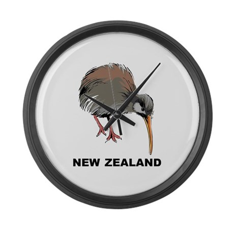 New Zealand Kiwi Large Wall Clock By Oneworldgear