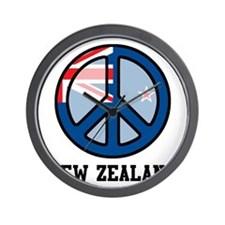 Peace In New Zealand Wall Clock