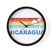 Cute Nicaragua Wall Clock